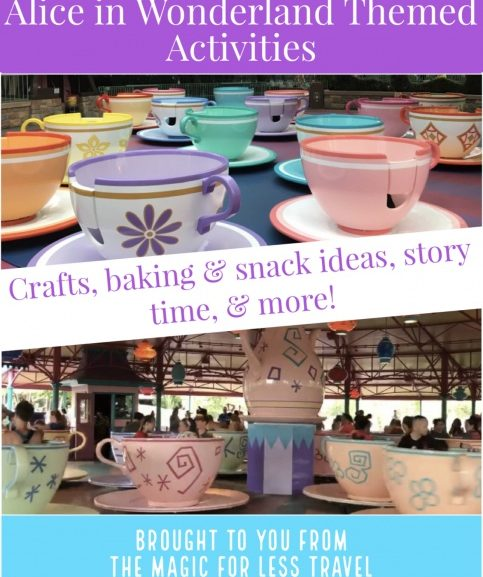 Alice in Wonderland Themed Activities for Your Day at Home