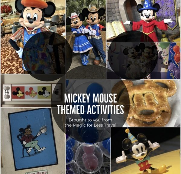 Mickey Mouse Themed Activities for Your Day at Home