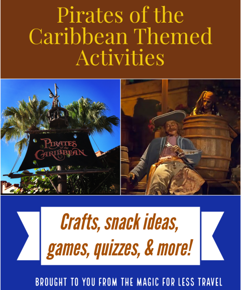 Pirates of the Caribbean Themed Activities for your Day at Home