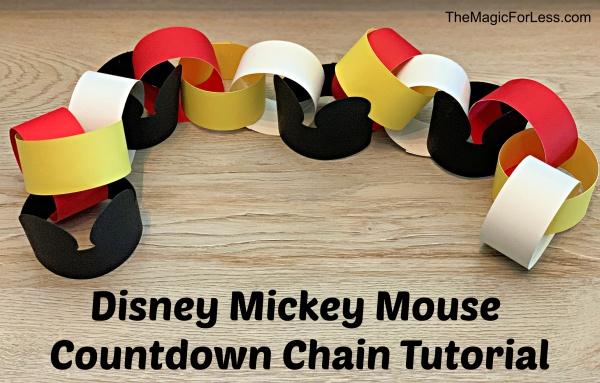 Disney Vacation Mickey Countdown Chain Tutorial & Video