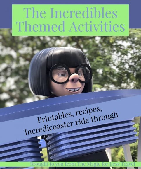 Incredibles Themed Activities for Your Day at Home