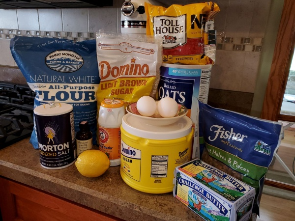 Ingredients for Doubletree Hotel Chocolate Chip Cookies