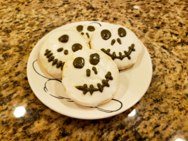 Travel Related Cooking: Jack Skellington Sugar Cookies