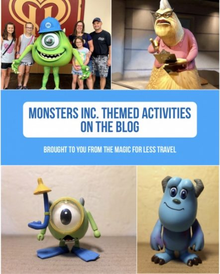 Monsters Inc Themed Activities For Your Day At Home