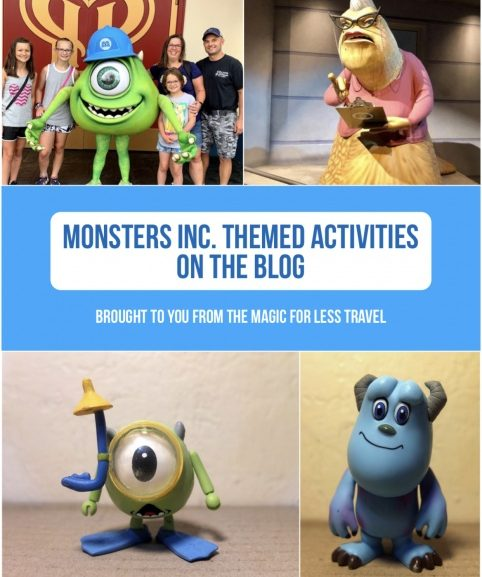 Monsters, Inc. Themed Activities for Your Day at Home