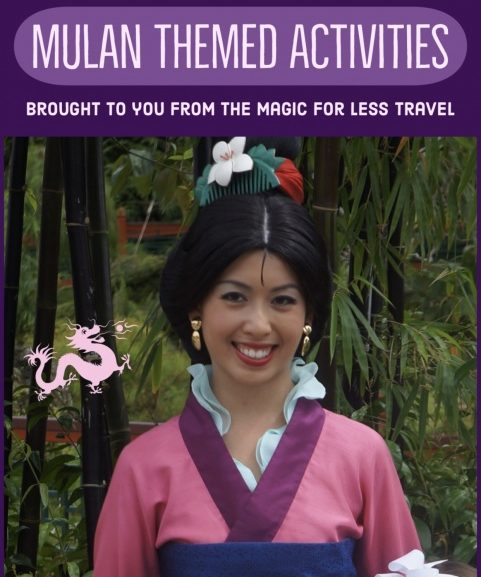 Mulan Themed Activities for Your Day at Home