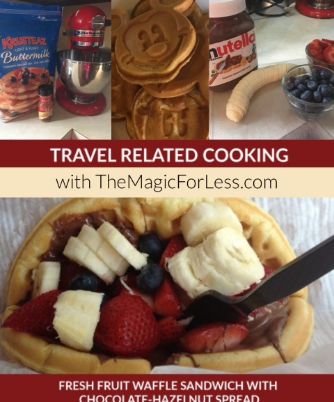 Travel Related Cooking: Fresh Fruit Waffle Sandwich with Chocolate-Hazelnut Spread