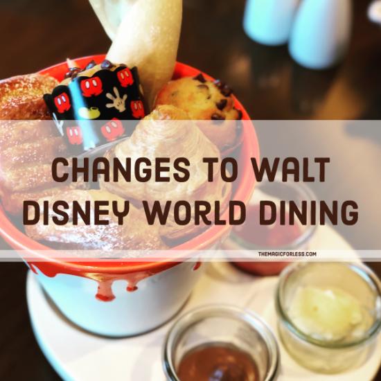 Updates to Dining When Walt Disney World Opens