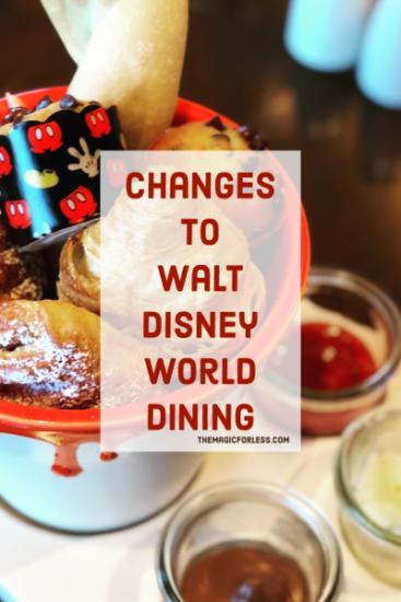 Updates to Disney Dining When Walt Disney World Reopens