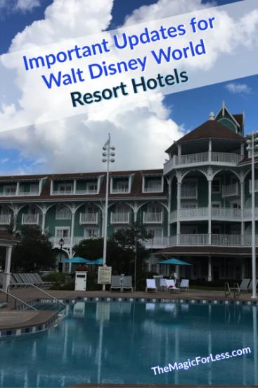 Updates for Walt Disney World Resort Hotels