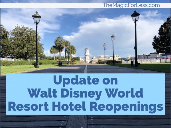 WDW Updates on Resort Hotels