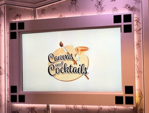 Canvas & Cocktails adult painting class on Disney Cruise Line