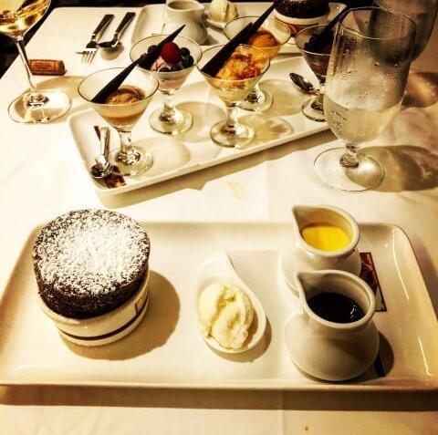 Chocolate soufflé from Palo on Disney Cruise Line