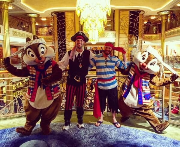 Pirate Night with Chip n Dale on Disney Cruise Line