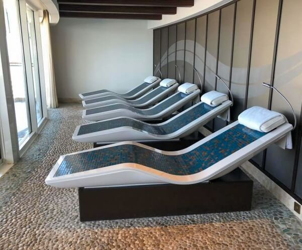 Rainforest Room Heated Loungers in Senses Spa on Disney Cruise Line