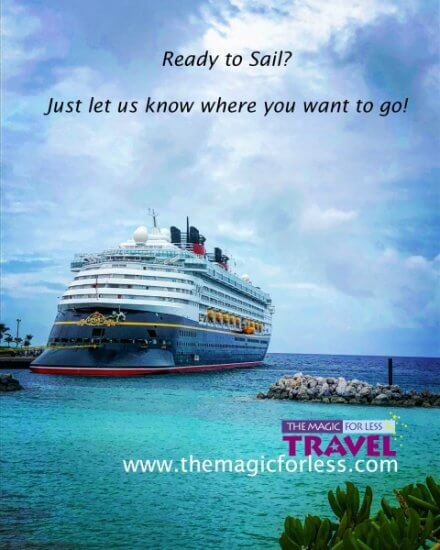Contact the Magic For Less Travel for your Disney Cruise Line Vacation!
