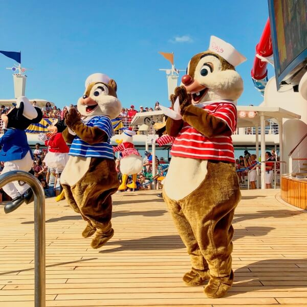 Sail Away Party with Chip n Dale on the Disney Magic
