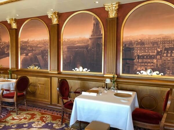 Seating at Remy on the Disney Fantasy and Disney Dream