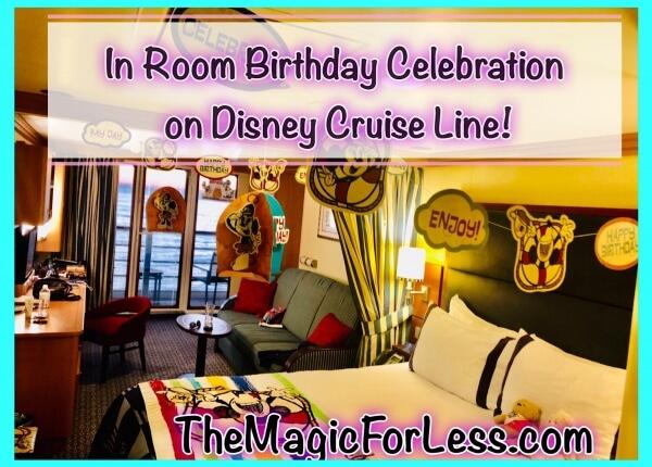 In-Room Birthday Celebration on Disney Cruise Line
