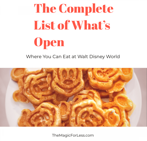 Dining Locations Open at Disney World