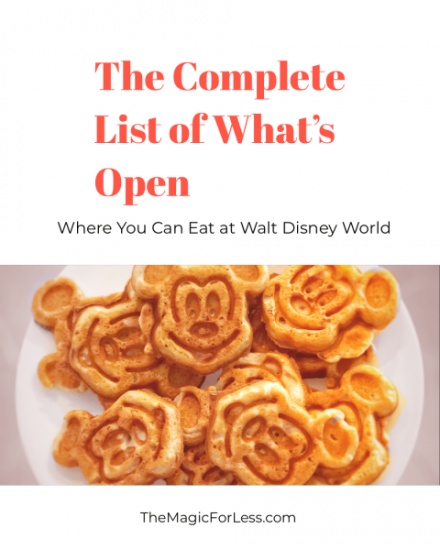 Quick service, table service and lounges open at Walt Disney World
