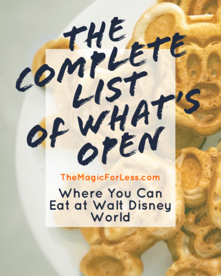 Dining Locations Open at Walt Disney World 2021