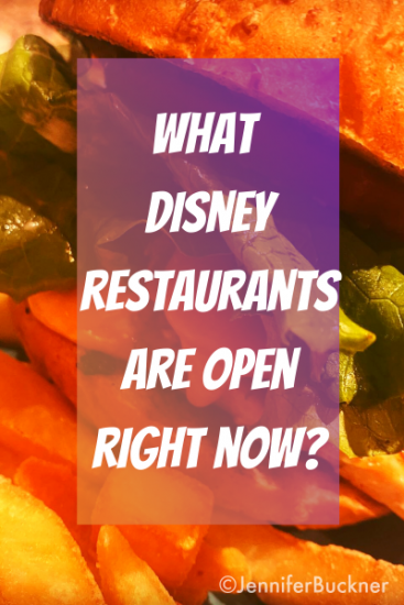 guide to what Disney restaurants are open