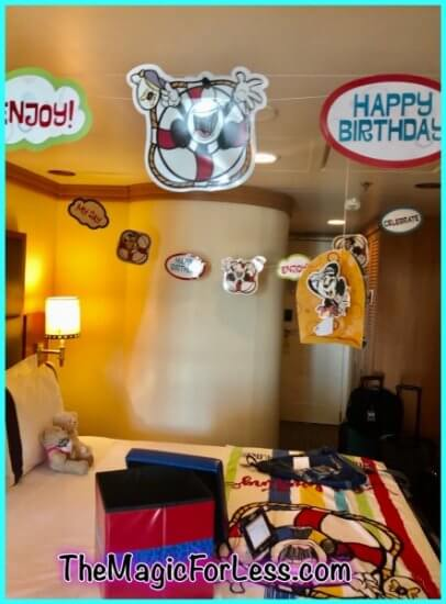 hanging decorations create a festive mood!