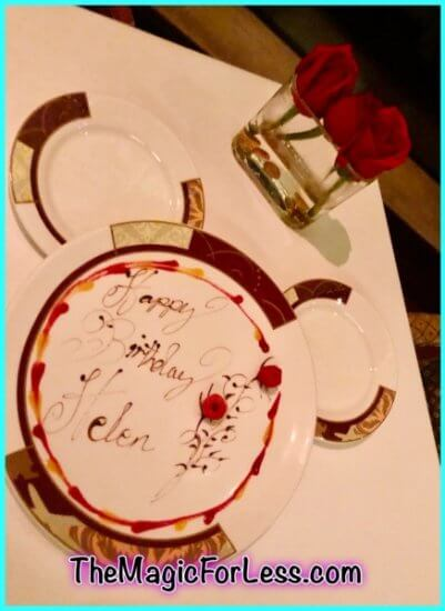 Birthday magic at dinner!