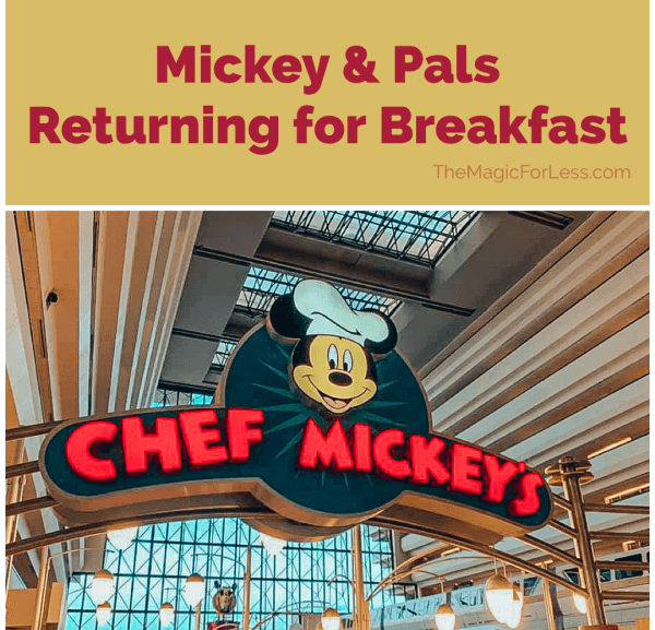 Mickey and Pals Return to Chef Mickey's