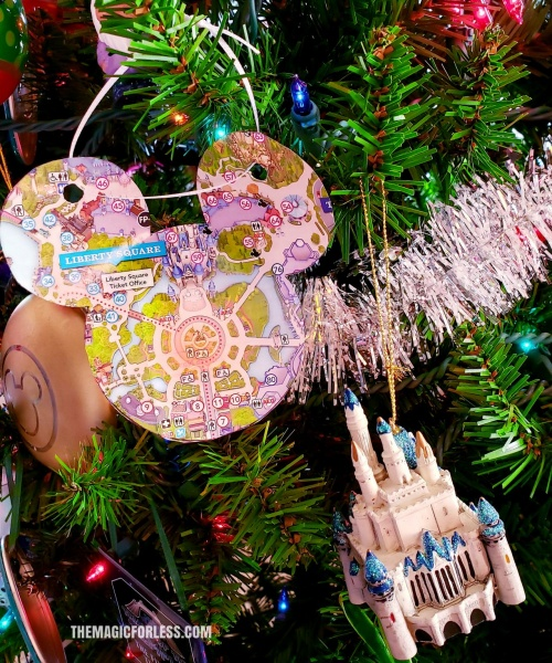 Disney Ornament Park Map Magic Kingdom