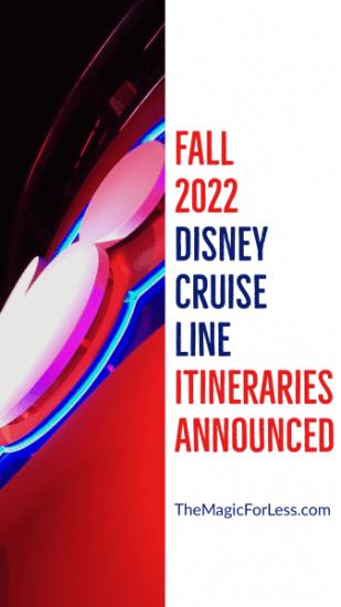 Disney Cruise Line Fall 2022