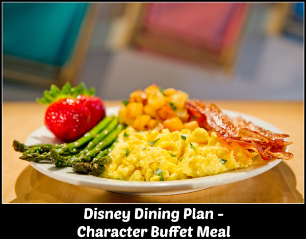 Disney Dining Plan - Character Buffet Meal