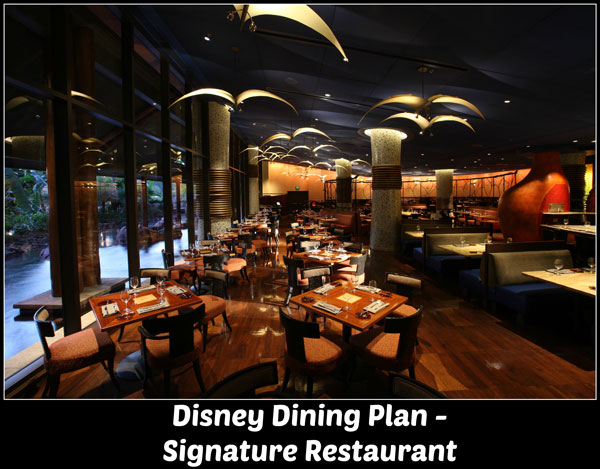 Disney Dining Plan - Signature Dining