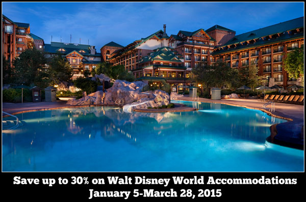 Save Up To 30% at Select Walt Disney World Hotels Early 2015