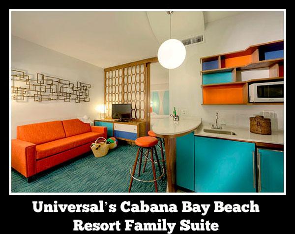 Cabana Bay Beach Resort Family Suite at Universal Orlando Resort