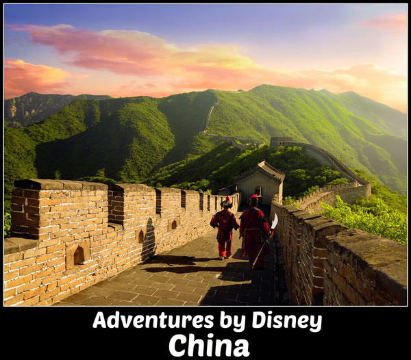 Adventures by Disney China guided tour family vacation