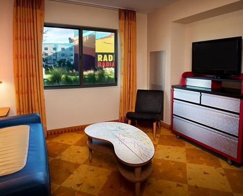 Cars Family Suite Living Area at Disney's Art of Animation Resort