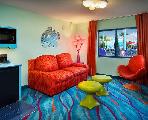 Finding Nemo Family Suite Living Area Disney's Art of Animation Resort