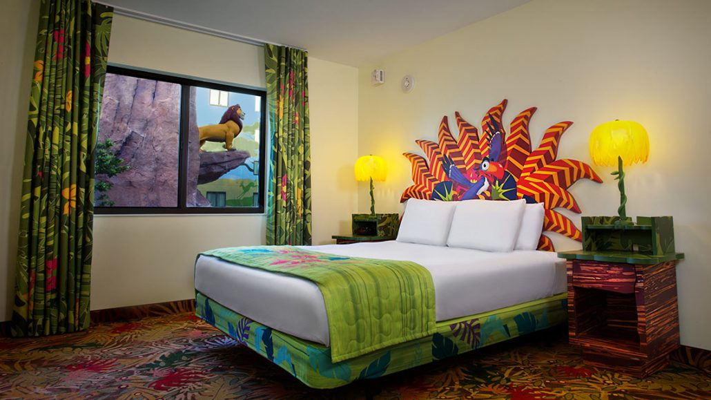 The Lion King Family Suite Queen size bed. Disney s Art of Animation Resort   The Magic For Less Travel