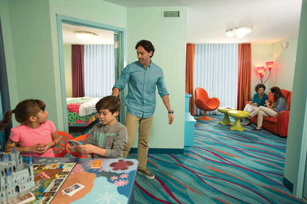 Walt Disney World Resorts with Rooms for 5 or more Guests - Discover an array of spacious accommodations for parties with 5 or more people at Walt Disney World Resort.