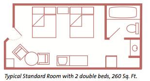 All Star Resort Standard Room Layout