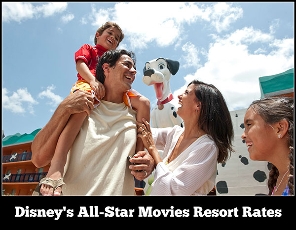 Disney's All Star Movies Resort Rates, Room Types, and Seasonal Pricing