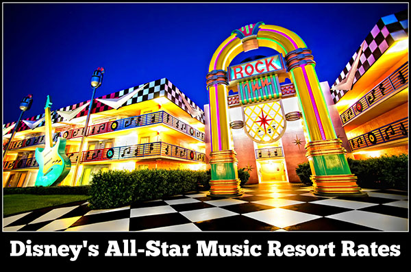 Disney's All-Star Music Resort Rates, Room Types, and Seasonal Pricing