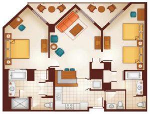 Aulani Two-Bedroom Layout