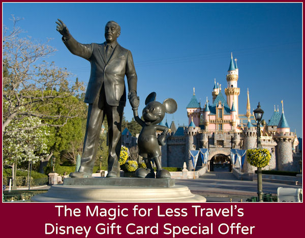 FREE Disney Gift Card from The Magic for Less! - Disneyland Resort Specials, Offers, and Discounts