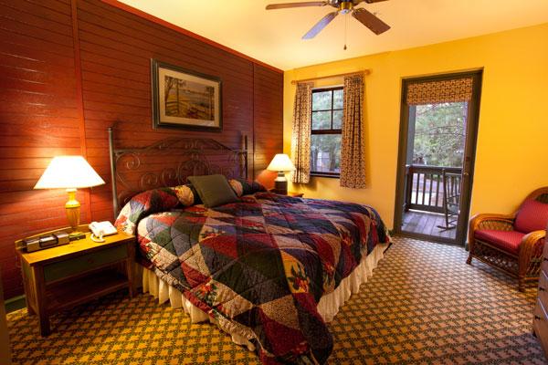 One Bedroom Villa Master Bedroom at Disney's Hilton Head Island