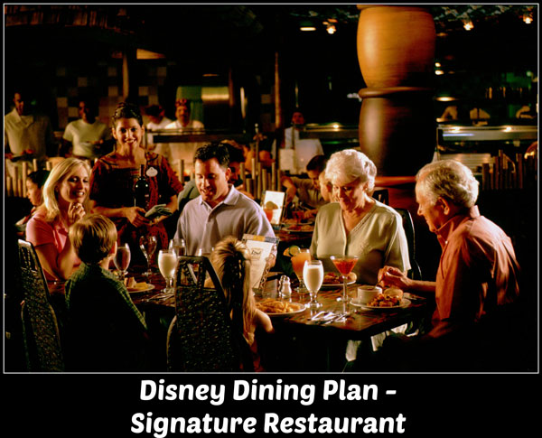 2016 disney dining plan table service restaurants using credits signature restaurant what do you get