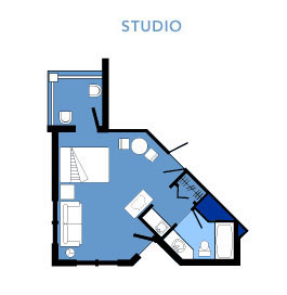 Vero Beach Studio Layout