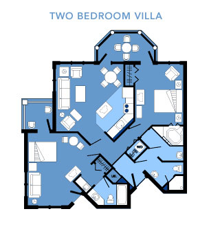 Vero Beach Two Bedroom Villa Layout